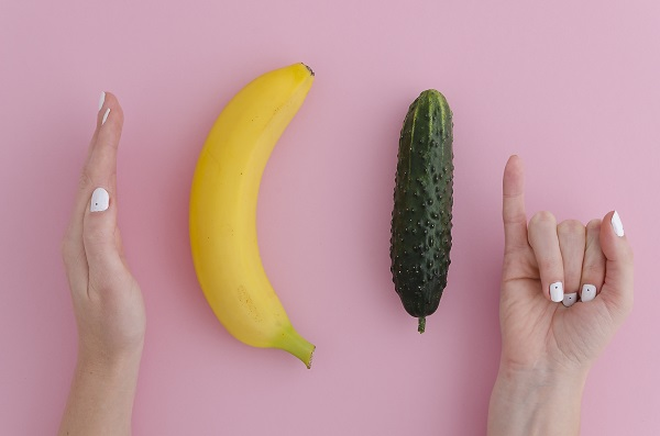 banana and cucumber